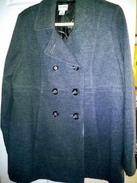 blue pea coat Alexandria
