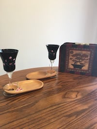 Hand-painted wine goblets WILMINGTON