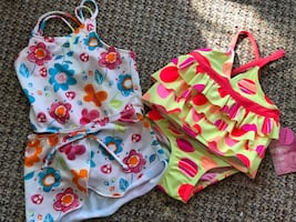 Baby girl bathing suits 0-6 months