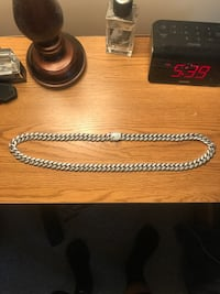 Diamond Cuban Link Necklace (10mm) in White Gold Aston, 19014