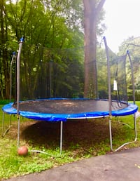 blue and black trampoline with enclosure Great Falls, 22066