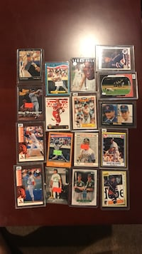 Sports trading card collection