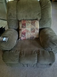 Brown Suede Recliner Sofa Chair Columbia, 29212