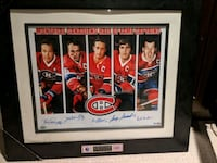 Montreal Canadiens captains signed 16x20 framed Kitchener, N2E 0B9