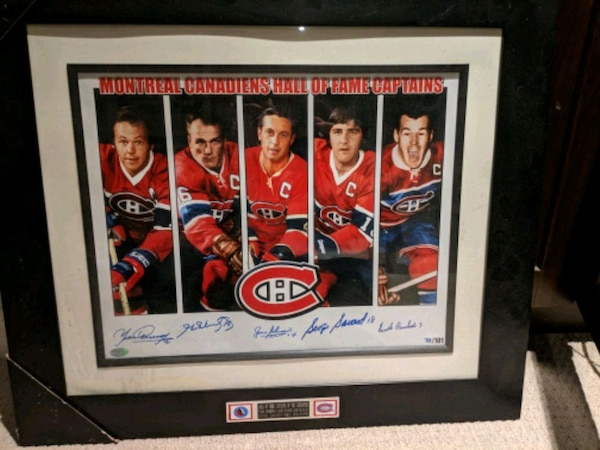 Montreal Canadiens captains signed 16x20 framed
