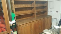Oak wood cabinet and shelves Owensboro, 42303