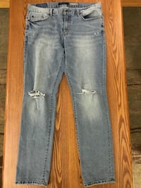 distressed blue-washed jeans Winnipeg, R2H 1T2