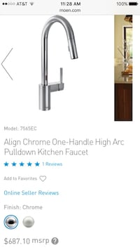 Align chrome one handle high arc pulldown kitchen faucet Woodbridge, 22192