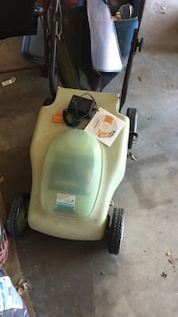 Neutron rechargeable lawn mower with extra battery