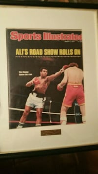 Muhammad Ali Sports Illustrated cover framed Chicago, 60638