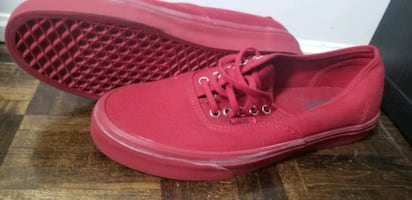 Moving sale!!! Brand new all red Van's