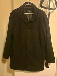 Black Mens Carbon Dress Coat. Size Small. Lightly  Vancouver, V5K 3B7