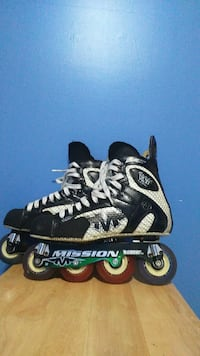 black-white-and-red Mission inline skates