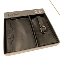 Leather Travel Kit Passport Cover and Luggage Tag