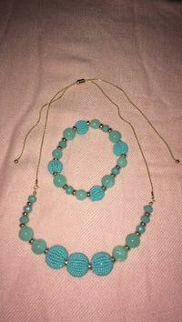 Adjustable necklace with matching bracelet New York, 11220