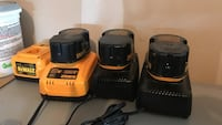 Two black and yellow dewalt battery chargers Pennsburg, 18073