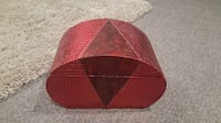 Great gift! Red leather jewelry box- deep 2 layers. Beautiful piece  Aurora, L4G 7H2