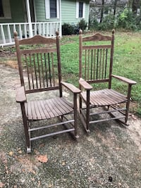 two brown wooden rocking chairs Mableton, 30126
