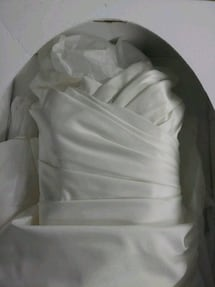 Wedding gown size 12 very good shape