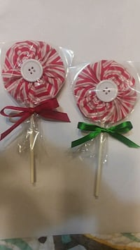 Lollipop Peppermint Candy Christmas Ornaments  690 mi