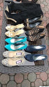 six pairs of assorted shoes Elmwood Park, 07407
