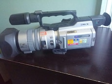 black and gray Sony Video camcorder