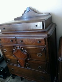 Antique chest or drawers with matching dresser 528 mi