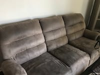 gray suede 3-seat recliner sofa Chicago, 60622