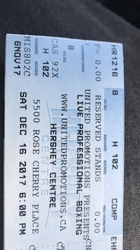 2 tickets to pro boxing go