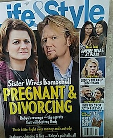 Life and Style Sister Wives Bombshell magazine