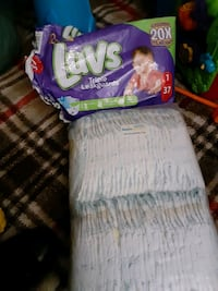 Pampers and luvs size 1 diapers!