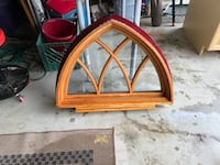 Custom hand-made decorative house window.  It is usually used as a window in the pitch of the roof. Perfect condition. Thousand Oaks, 91320