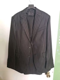 Black Suit with white stripe (Medium)