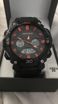 Round black and red digital watch Bakersfield, 93312