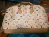white and brown Louis Vuitton leather handbag Surrey, V3S 1H1