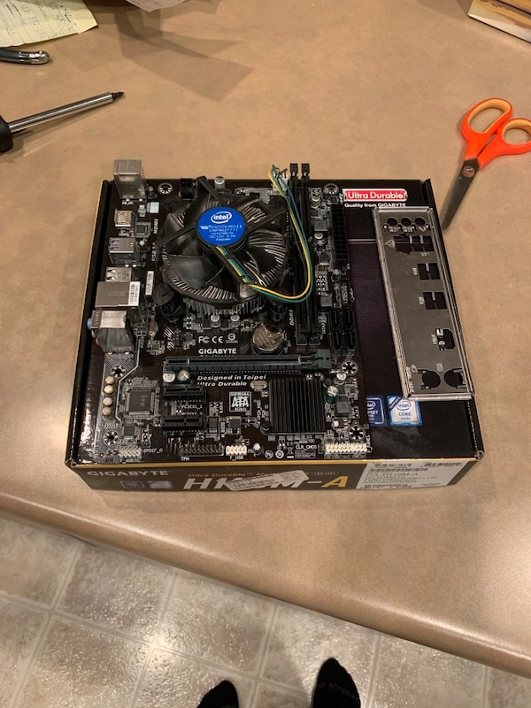 I5 6400 and h110M-A gigabyte motherboard (already installed) 98bdafed-3651-4473-8f48-2df57451a3f8