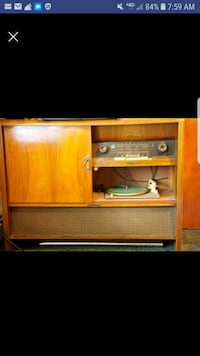 Antique HI-Fi Console with record player Waldorf, 20603