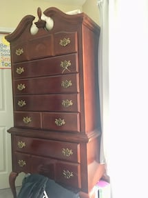 Queen Anne Highboy Chest (2 piece) pickup only