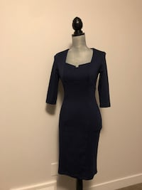 Mid sleeve navy blue midi dress Edmonton, T5K 2T7