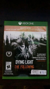 Dying Light Xbox One Guelph, N1L 0C2