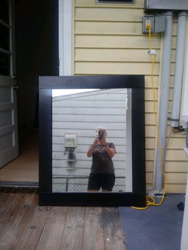 Large Dark Mahogany Mirror 2