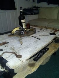 Vintage rustic coffie table made from barn 1845 Hamilton, L9C 4L5