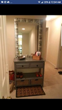 gray wooden dresser with mirror Arlington, 22204