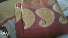 red and brown dupatta