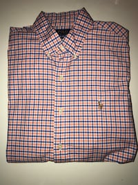 Hvit og svart plaid button-up skjorte Sandvika, 1337