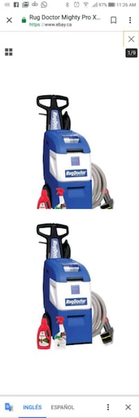 blue and white upright vacuum cleaner Mississauga, L5A 2G5