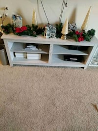 white wooden TV stand with shelf 2331 mi