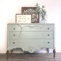 white wooden dresser with mirror 722 km
