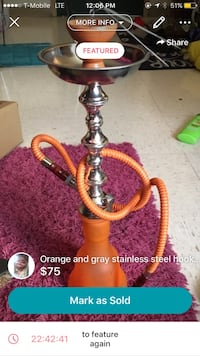 orange and gray stainless steel hookah screenshot Woodbridge, 22193