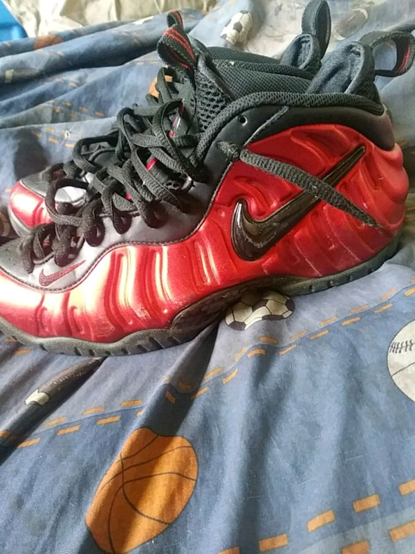 66eb44a08de Used pair of red Nike Foamposite Pro shoes for sale in Stockton - letgo